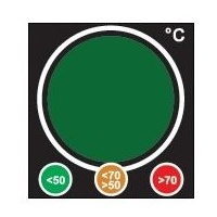 """Traffic Light"" Safety Indicator Label"